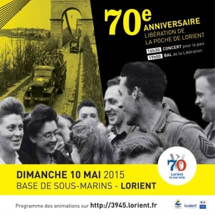 70EME ANNIVERSAIRE DE LA LIBERATION DE LA POCHE DE LORIENT